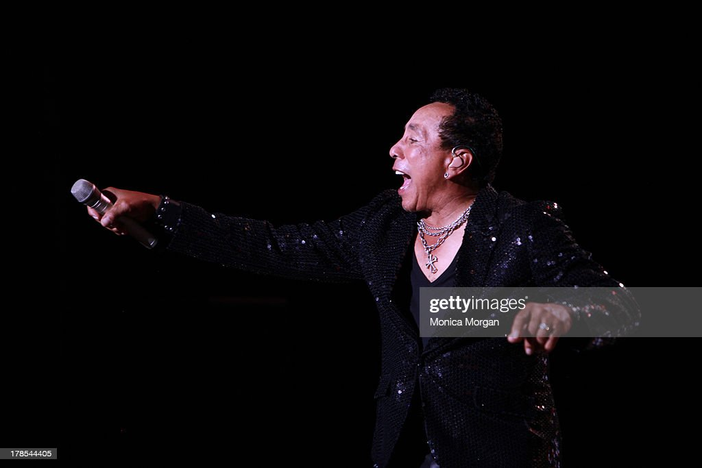 <a gi-track='captionPersonalityLinkClicked' href=/galleries/search?phrase=Smokey+Robinson&family=editorial&specificpeople=210698 ng-click='$event.stopPropagation()'>Smokey Robinson</a> performs at Freedom Hill Amphitheater on August 29, 2013 in Sterling Heights, Michigan.