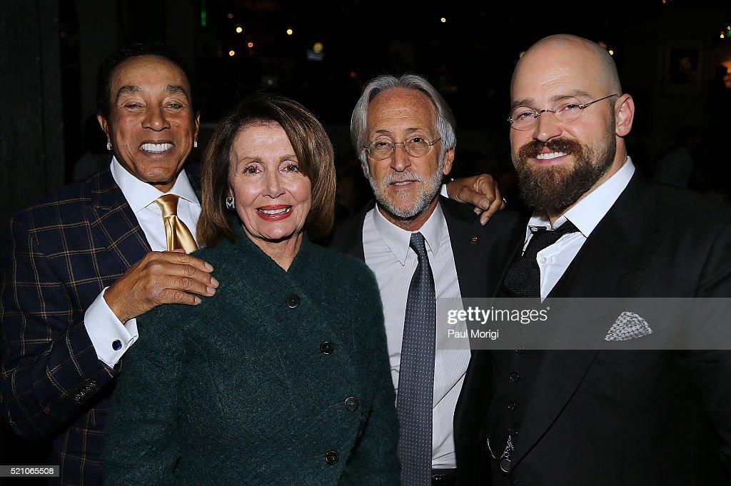 Smokey Robinson US House of Representatives Minority Leader Nancy Pelosi Neil Portnow CEO and President The Recording Academy and honoree Zac Brown...