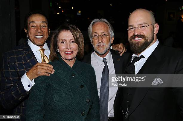 Smokey Robinson US House of Representatives Minority Leader Nancy Pelosi Neil Portnow CEO and President The Recording Academy and honoree Zac Brown...