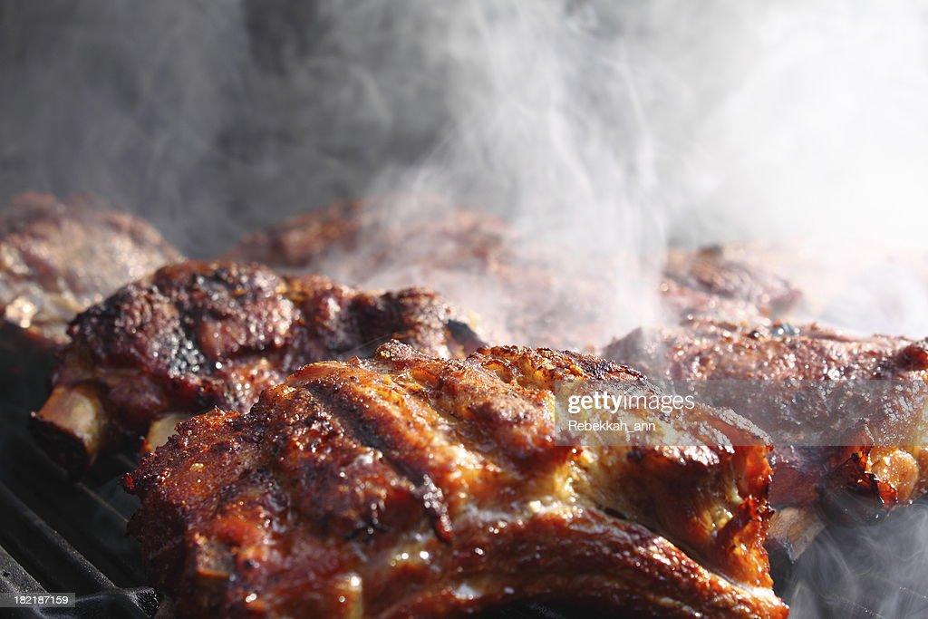 Smokin' BBQ Ribs : Stock Photo