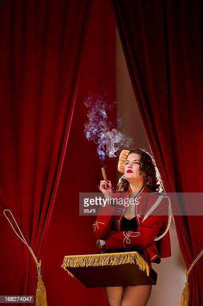 smoking cigarette girl