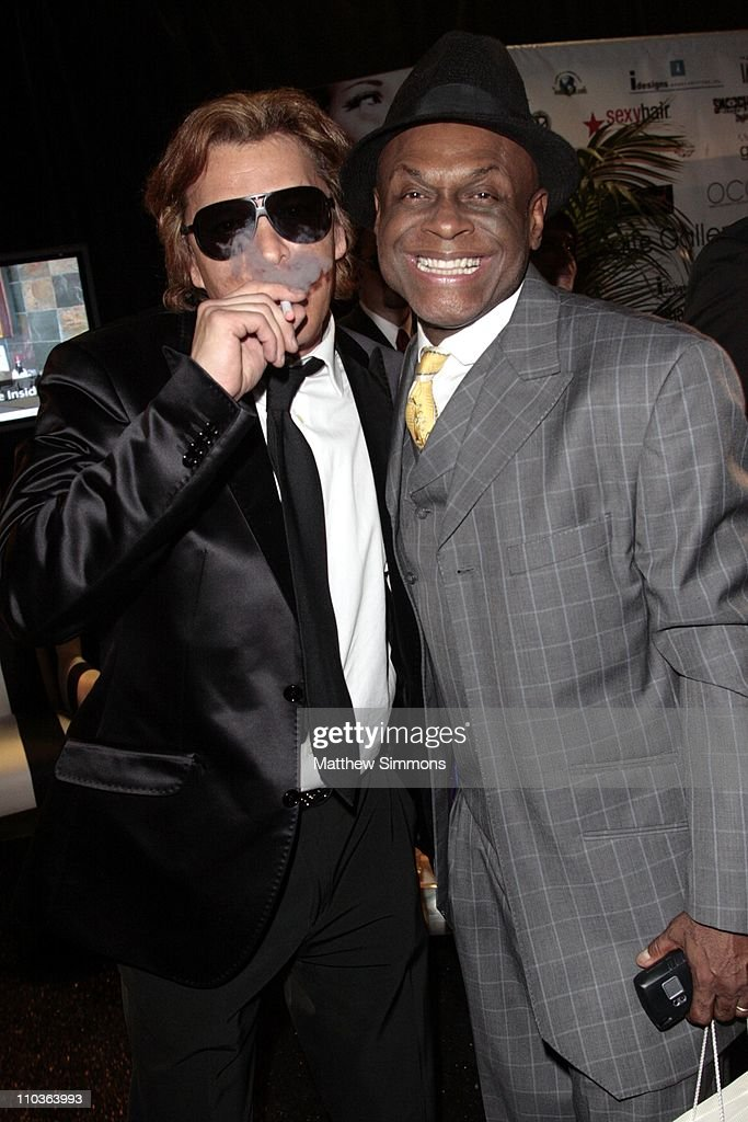 Smoking Everywhere CoOwner Ferdinand Bare and Michael Colyar at the Smoking Everywhere booth backstage at the NAACP Image Awards at the Shrine...