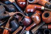 Smoking pipes collection backgrounds
