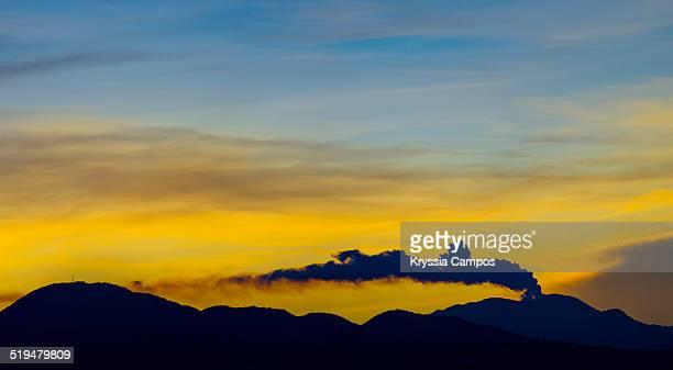 Smoking volcano panoramic