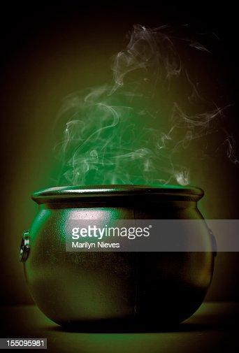 smoking witch's pot