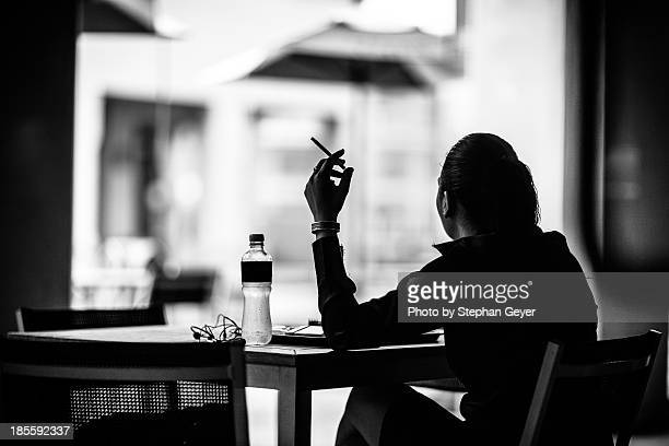 Smoking Woman Silhouette