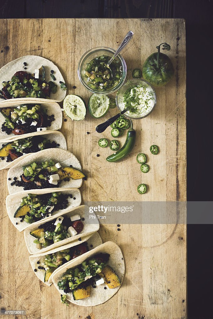 Smoky Lentil Tacos with Kabocha Squash and Green T