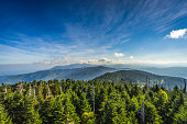 Detailed shot of part of the Smoky Mountains in Tennessee.  This shot was taken from top Clingman's Dome