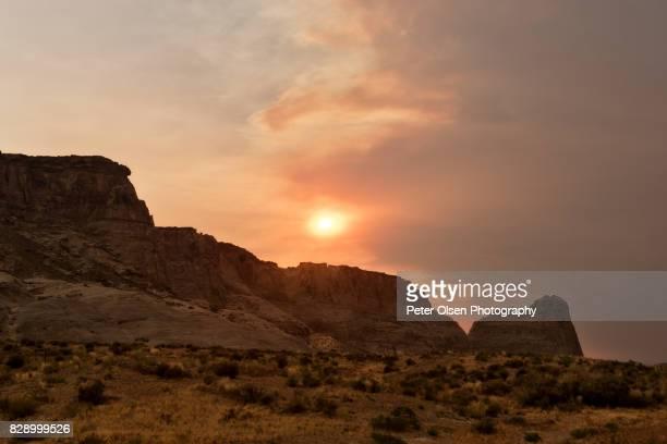 Smoky Sunset over Utah