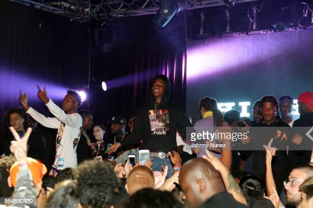Smooky MarGielaa and Marty Baller perform at the A$AP Mob After Party at Highline Ballroom on September 25 2017 in New York City