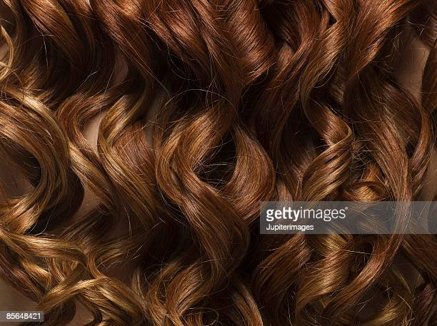 Smooth curls of hair