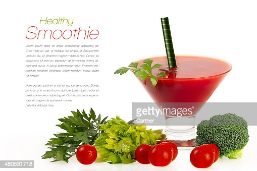 Smoothie with Fresh Vegatables. Healthy Eating and Diet Concept : Stock Photo