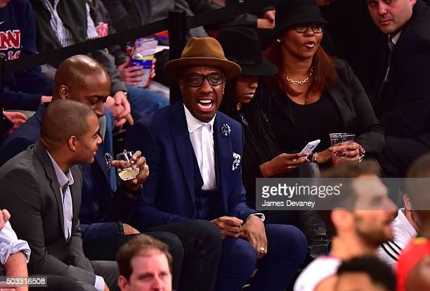 J B Smoove attends the Atlanta Hawks vs New York Knicks game at Madison Square Garden on January 3 2016 in New York City