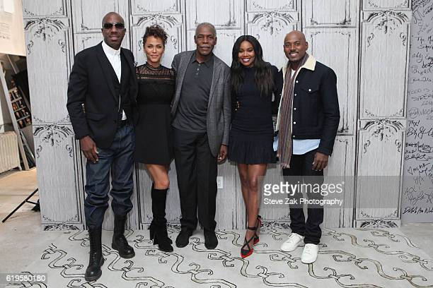 JB Smoove Nicole Ari Parker Danny Glover Gabrielle Union and Romany Malco attend Build Series to discuss their new movie 'Almost Christmas' at AOL HQ...
