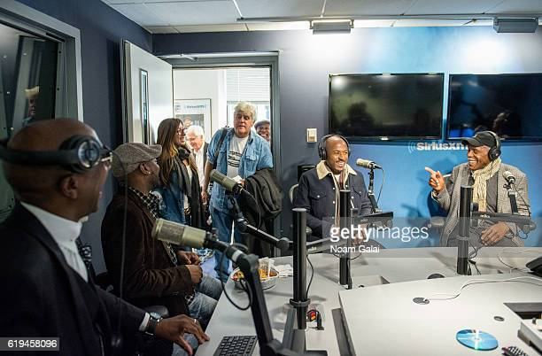 J B Smoove Omar Epps Jay Leno Romany Malco and Danny Glover visit the SiriusXM Studio on October 31 2016 in New York City