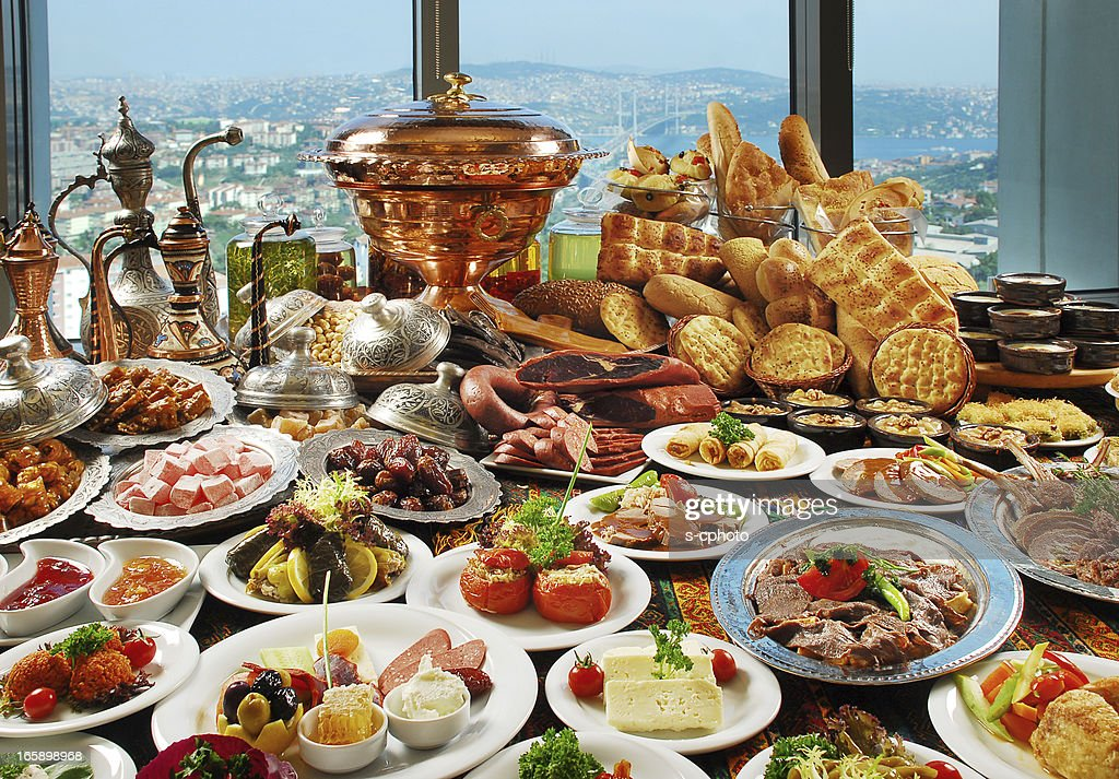 Smorgasbord of traditional foods