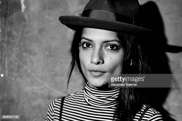 Smriti Keshari poses at the 'The Bomb' portrait session during the 67th Berlinale International Film Festival Berlin at Berlinale Palace on February...