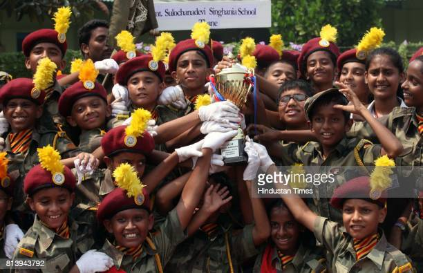Smt Sulochanadevi Singhania School came first in Marching competition in AISM athletic meet at priyadarshani park Malabar hill on Monday