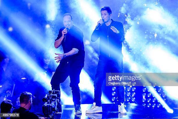 Smudo and Michi Beck perform during the The Voice Of Germany 1st Live Show on December 3 2015 in Berlin Germany