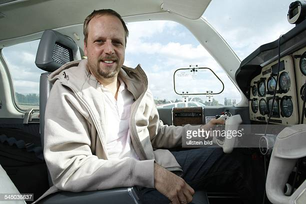 Smudo Musician Singer HipHop Germany at Tempelhof airport Berlin Germany in his plane