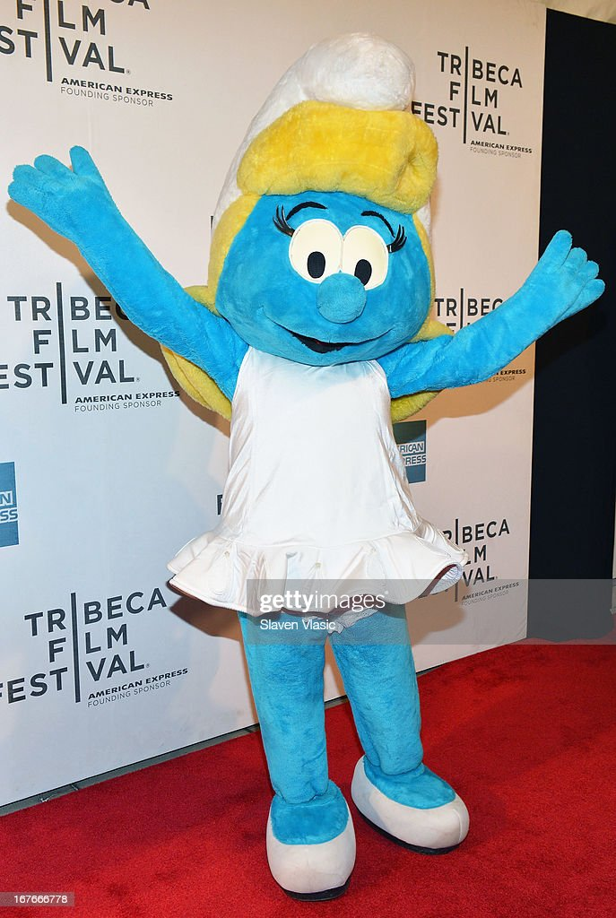 Smurf character Smurfette attends the 'The Smurfs' Family Festival Screening during the 2013 Tribeca Film Festival on April 27, 2013 in New York City.