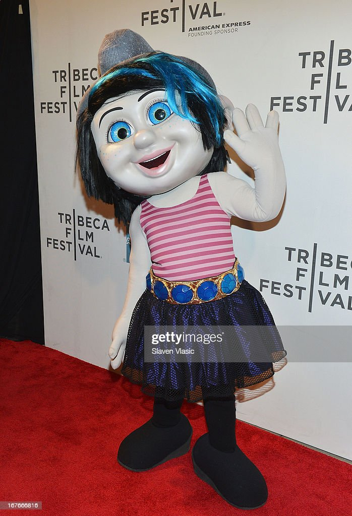 Smurf character Vexy attends the 'The Smurfs' Family Festival Screening during the 2013 Tribeca Film Festival on April 27, 2013 in New York City.