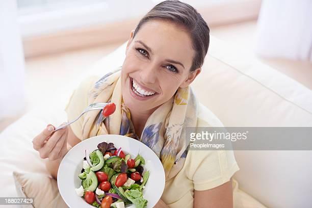 Déguster une salade