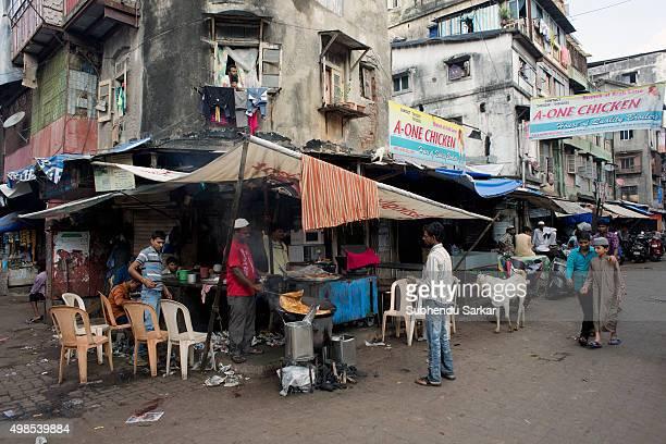 A snacks shop in Bhendi Bazaar area in Mumbai