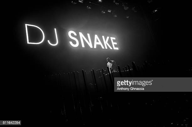 Snake alias William Grigahcine performs at L'Olympia on February 21 2016 in Paris France
