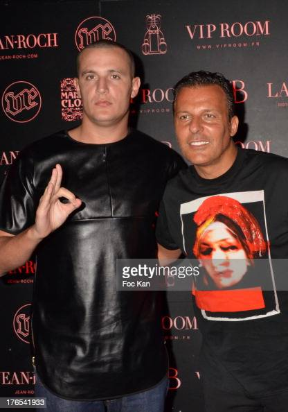 Snake and Jean Roch Pedri attend the DJ Snake Party at the VIP Room on August 14 2013 in Saint Tropez France