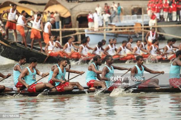 Snake boat race on punnamada lake, Alleppey, Alappuzha, Kerala, India