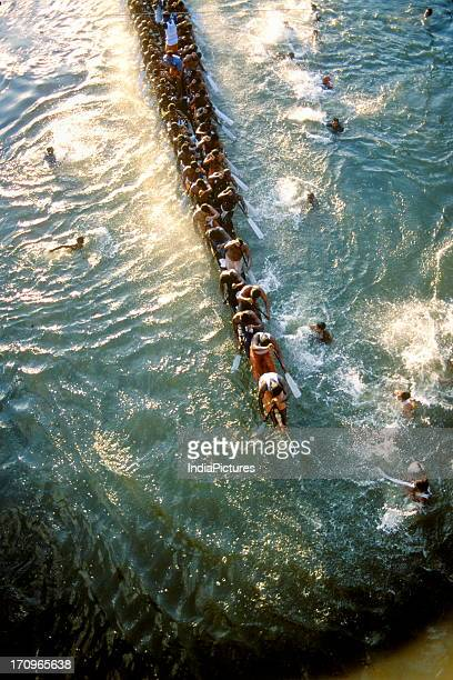 Snake boat racing at Payippad near Haripad Kerala India