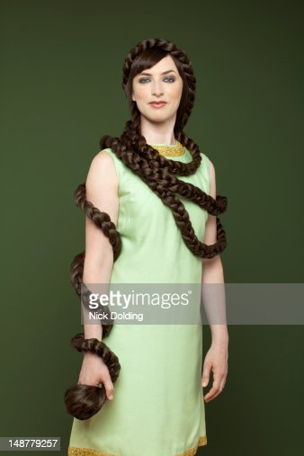Snake hair style : Stock Photo