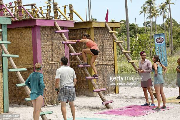 'A Snake In The Grass' Kass McQuillen Terry Deitz Kelly Wiglesworth Stephen Fishbach and Kimmi Kappenberg during the fifth episode of SURVIVOR...