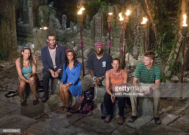 'A Snake In The Grass' Kimmi Kappenberg Stephen Fishbach Monica Padilla Jeremy Collins Kelly Wiglesworth and Spencer Bledsoe at Tribal Council during...