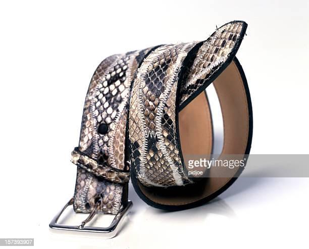 snake leather belt