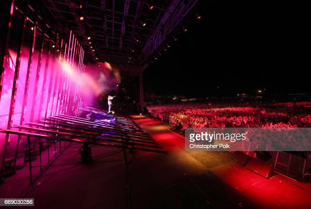 Snake performs at the Outdoor stage during day 2 of the Coachella Valley Music And Arts Festival at the Empire Polo Club on April 15 2017 in Indio...