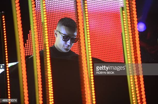 DJ Snake performs on the first day of the Coachella Music Festival in Indio California April 10 2015 AFP PHOTO / ROBYN BECK