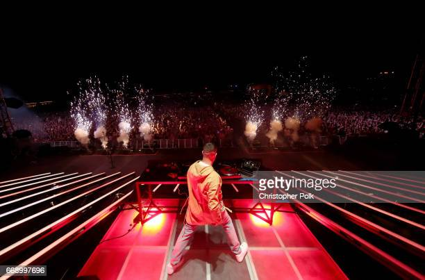 Snake performs on the Outdoor stage during day 2 of the Coachella Valley Music And Arts Festival at the Empire Polo Club on April 15 2017 in Indio...