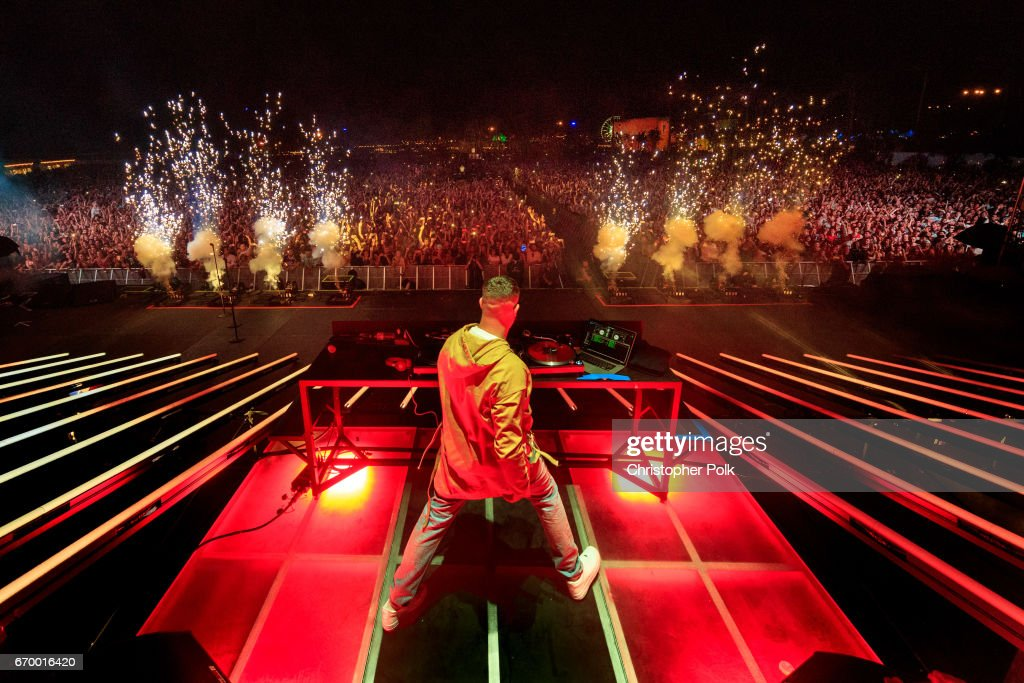 DJ Snake performs on the Outoor Stage during day 2 of the Coachella Valley Music And Arts Festival (Weekend 1) at the Empire Polo Club on April 15, 2017 in Indio, California.