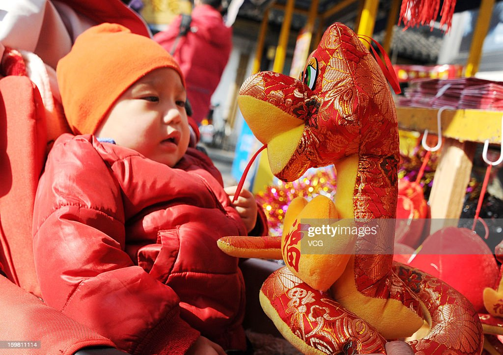 Snake toys are hung in the street for sell as the year of Snake is approaching on January 19, 2013 in Shanghai, China. Fall on February 10 this year, the Chinese Lunar New Year, also known as the Spring Festival, which is based on the Lunisolar Chinese calendar, will be celebrated from the first day of the first month of the lunar year and ends with Lantern Festival on the Fifteenth day.