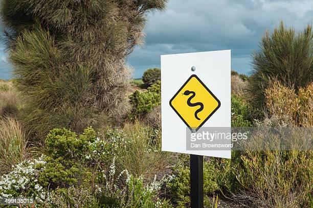 Snake warning roadsign, Victoria, Australia
