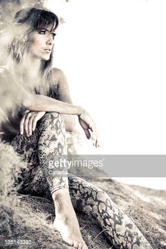 Snake woman : Stock Photo