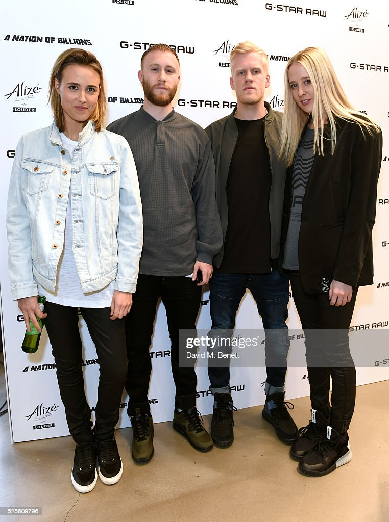 Snakehips (C) and Eli&Fur attend the G-Star Elwood Sessions on April 28, 2016 in London, England.