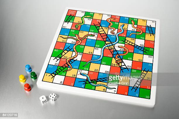 Snakes and ladders puzzle game