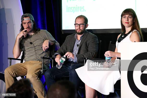 Snapchat Celebrity Shonduras Liquid Thread VP and Brand Content Director Jeff Wolfe and Macy's VP of Digital Media Kimberly Yarnell speak onstage at...