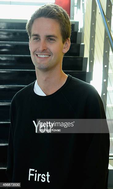 Snapchat CEO Evan Spiegel attends the Vanity Fair New Establishment Summit at Yerba Buena Center for the Arts on October 8 2014 in San Francisco...