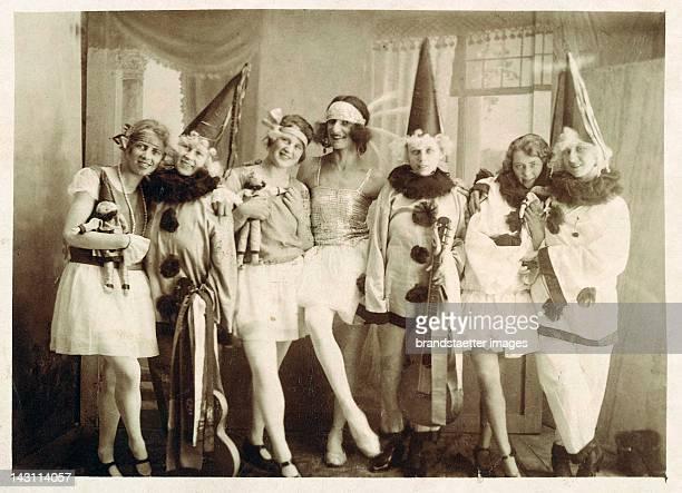 Snapshot fancy dress party France Photograph 1920s