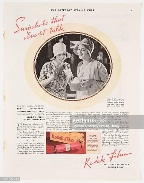 'Snapshots that almost talk' 1930 Advertisement of Kodak 1930