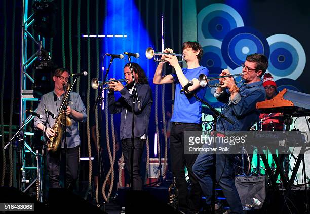 Snarky Puppy perfom at Music Is Universal Styldby Gap presented by Marriott Rewards and Universal Music Group during SXSW at the JW Marriott Austin...